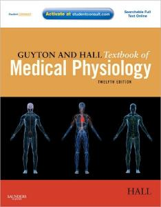 Guyton and Hall Textbook of Medical Physiology 12th edition John E. Hall, Arthur C. Guyton  ISBN-10: 1416045740 ISBN-13: 9781416045748