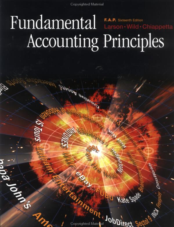 Fundamental Accounting Principles 16th Edition