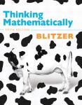 Thinking Mathematically, 5th Edition Robert F. Blitzer 9780321645852