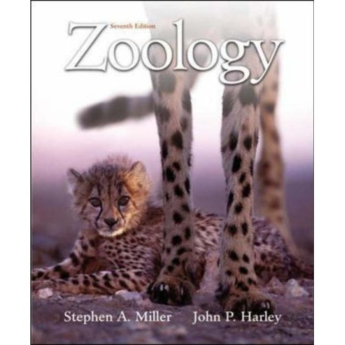 Zoology, 7th edition Stephen A Miller (Author), John P Harley (Author)  ISBN-13: 9780073228075  ISBN-10: 0073228079